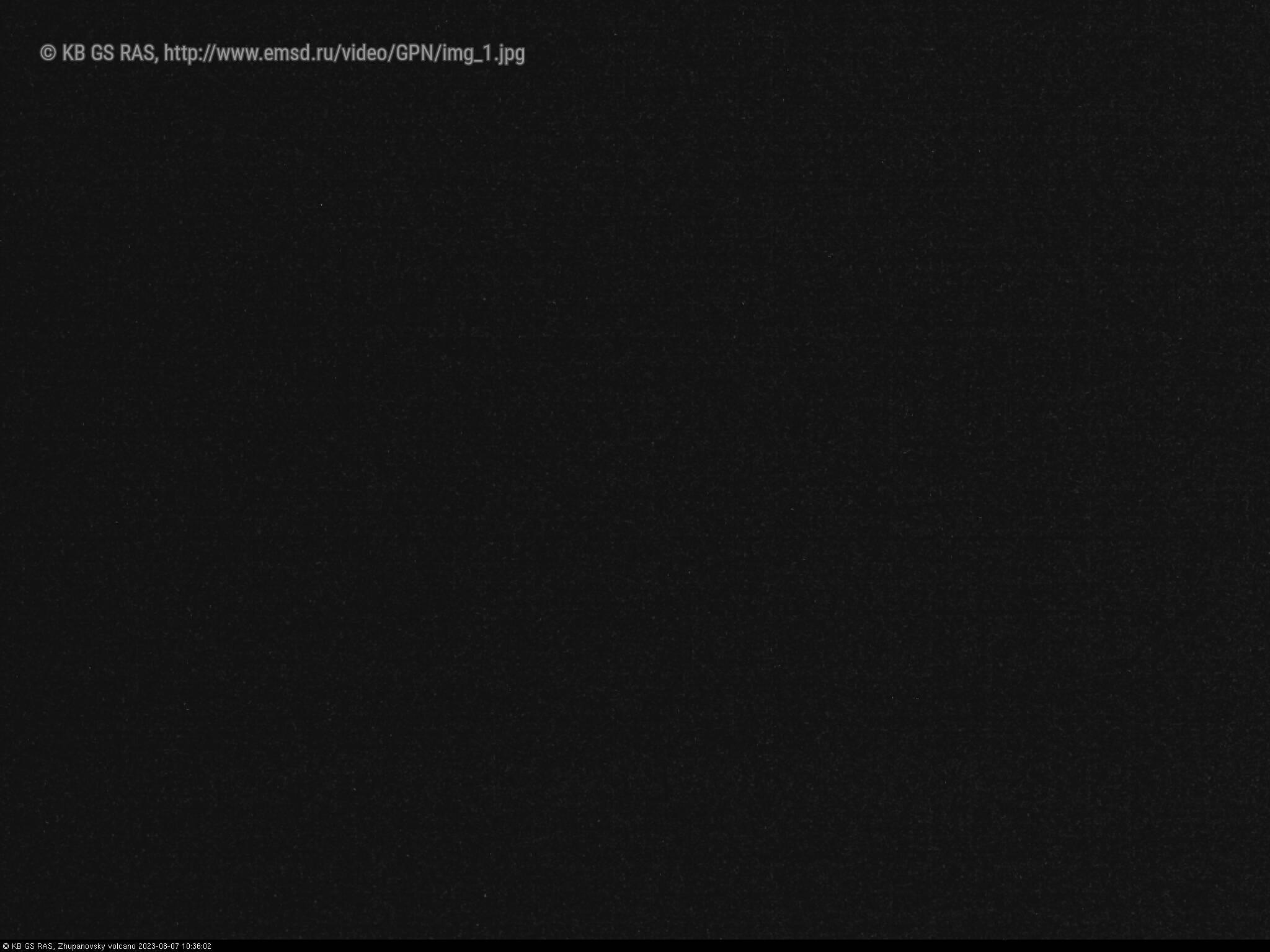 Веб камера показывает вулкан Жупановский на Камчатке в реальном времени
