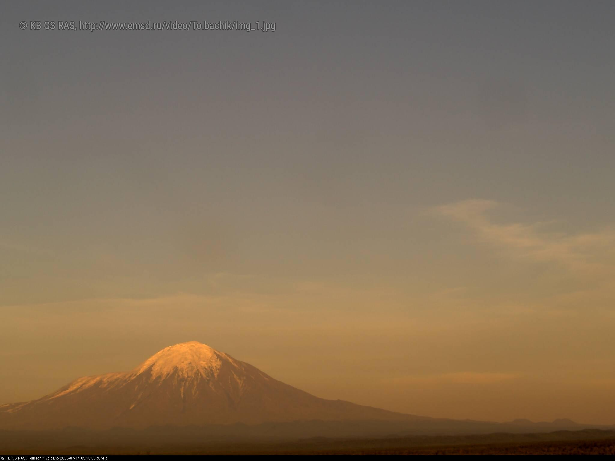 Веб-камера вулкана Плоский Толбачик